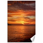 Sunset Sea Afterglow Boot Canvas 24  x 36  36 x24 Canvas - 1