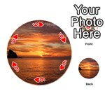 Sunset Sea Afterglow Boot Playing Cards 54 (Round)  Front - Heart6