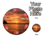 Sunset Sea Afterglow Boot Playing Cards 54 (Round)  Front - Heart10