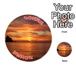 Sunset Sea Afterglow Boot Playing Cards 54 (Round)  Front - Joker2