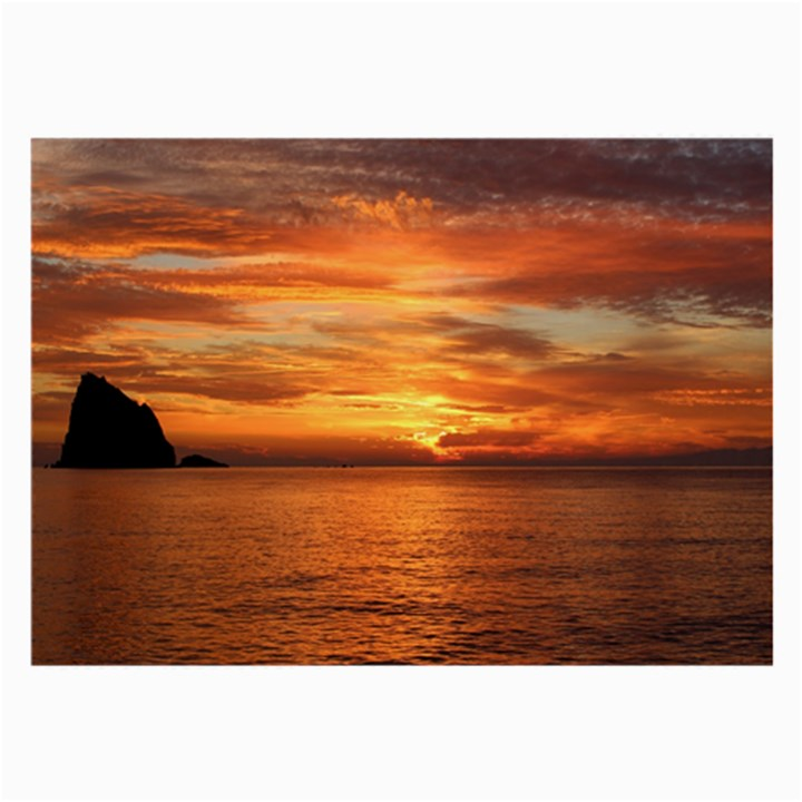 Sunset Sea Afterglow Boot Large Glasses Cloth