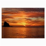 Sunset Sea Afterglow Boot Large Glasses Cloth (2-Side) Back