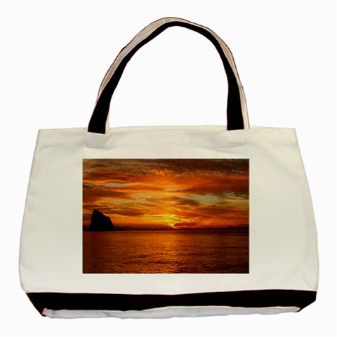 Sunset Sea Afterglow Boot Basic Tote Bag (Two Sides)