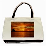 Sunset Sea Afterglow Boot Basic Tote Bag (Two Sides) Back