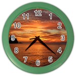 Sunset Sea Afterglow Boot Color Wall Clocks Front