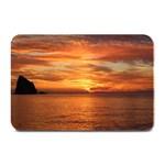 Sunset Sea Afterglow Boot Plate Mats 18 x12 Plate Mat - 1