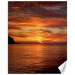 Sunset Sea Afterglow Boot Canvas 11  x 14   14 x11 Canvas - 1