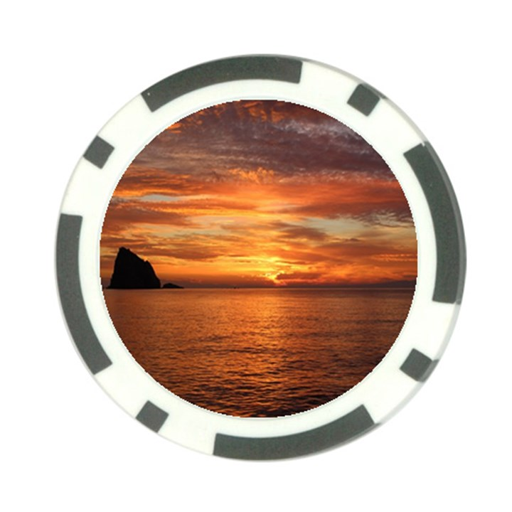 Sunset Sea Afterglow Boot Poker Chip Card Guards