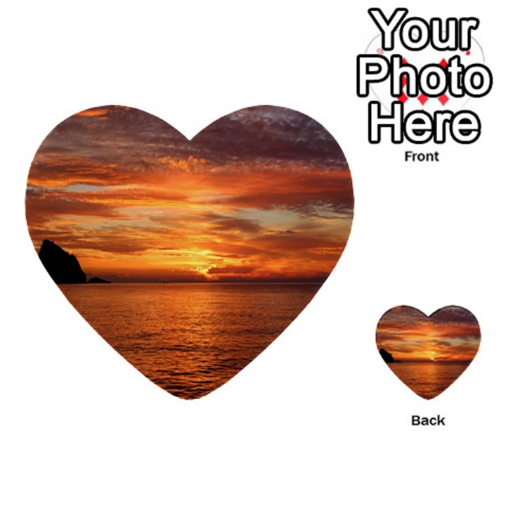 Sunset Sea Afterglow Boot Multi-purpose Cards (Heart)