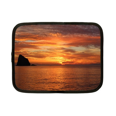 Sunset Sea Afterglow Boot Netbook Case (Small)
