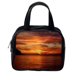 Sunset Sea Afterglow Boot Classic Handbags (One Side)