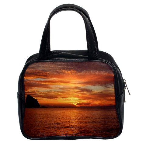 Sunset Sea Afterglow Boot Classic Handbags (2 Sides)