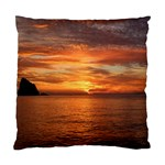 Sunset Sea Afterglow Boot Standard Cushion Case (Two Sides) Back