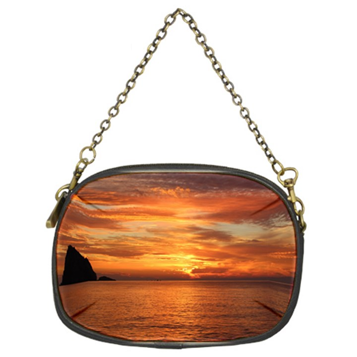 Sunset Sea Afterglow Boot Chain Purses (Two Sides)