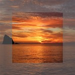 Sunset Sea Afterglow Boot Mini Canvas 4  x 4  4  x 4  x 0.875  Stretched Canvas