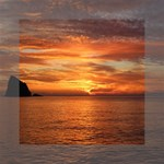 Sunset Sea Afterglow Boot Mini Canvas 6  x 6  6  x 6  x 0.875  Stretched Canvas
