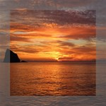 Sunset Sea Afterglow Boot Mini Canvas 8  x 8  8  x 8  x 0.875  Stretched Canvas
