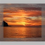Sunset Sea Afterglow Boot Canvas 10  x 8  10  x 8  x 0.875  Stretched Canvas