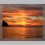 Sunset Sea Afterglow Boot Canvas 14  x 11  14  x 11  x 0.875  Stretched Canvas