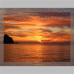 Sunset Sea Afterglow Boot Canvas 16  x 12  16  x 12  x 0.875  Stretched Canvas