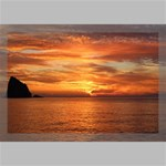 Sunset Sea Afterglow Boot Canvas 18  x 12  18  x 12  x 0.875  Stretched Canvas