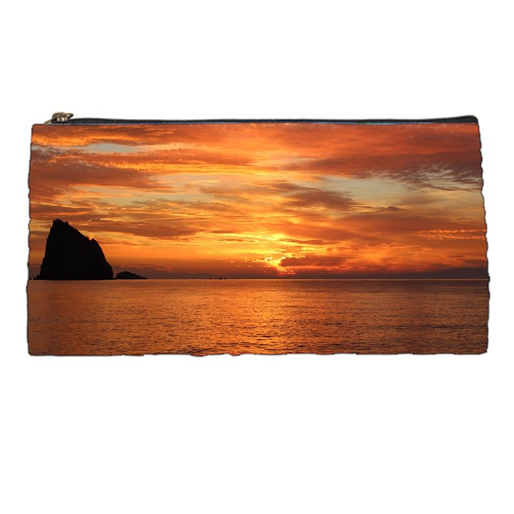 Sunset Sea Afterglow Boot Pencil Cases