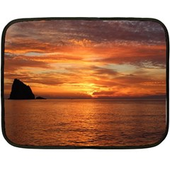 Sunset Sea Afterglow Boot Double Sided Fleece Blanket (Mini)