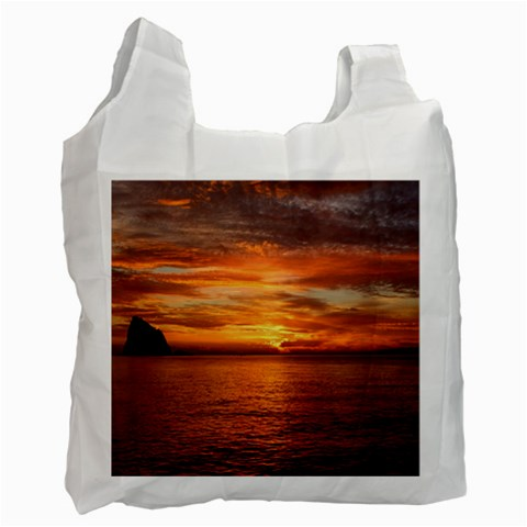 Sunset Sea Afterglow Boot Recycle Bag (One Side)