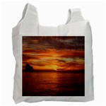 Sunset Sea Afterglow Boot Recycle Bag (One Side) Front