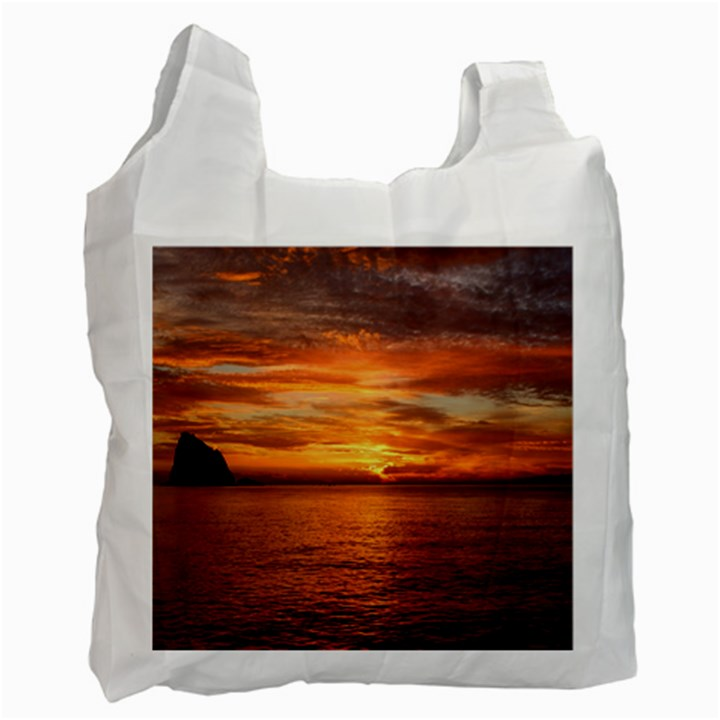 Sunset Sea Afterglow Boot Recycle Bag (Two Side)