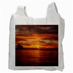 Sunset Sea Afterglow Boot Recycle Bag (Two Side)  Back