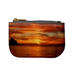 Sunset Sea Afterglow Boot Mini Coin Purses