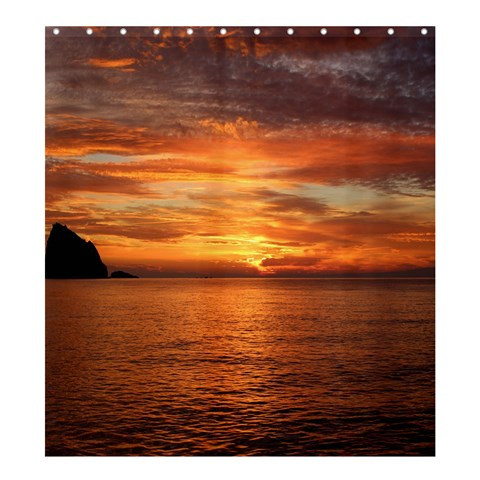 Sunset Sea Afterglow Boot Shower Curtain 66  x 72  (Large)
