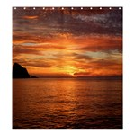 Sunset Sea Afterglow Boot Shower Curtain 66  x 72  (Large)  66 x72 Curtain