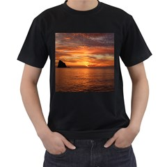 Sunset Sea Afterglow Boot Men s T-Shirt (Black)