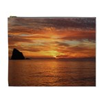 Sunset Sea Afterglow Boot Cosmetic Bag (XL) Front
