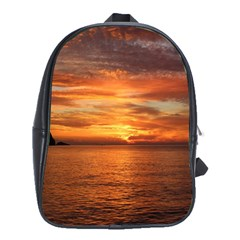Sunset Sea Afterglow Boot School Bags(Large)