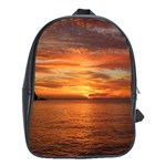 Sunset Sea Afterglow Boot School Bags(Large)  Front