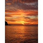 Sunset Sea Afterglow Boot Large Memo Pads 4.125 x5.5  Memopad
