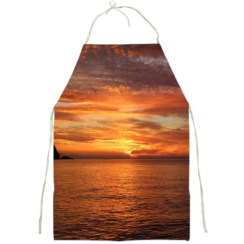 Sunset Sea Afterglow Boot Full Print Aprons