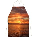 Sunset Sea Afterglow Boot Full Print Aprons Front