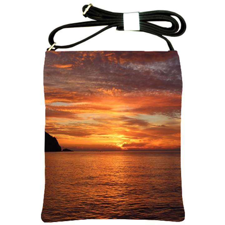 Sunset Sea Afterglow Boot Shoulder Sling Bags
