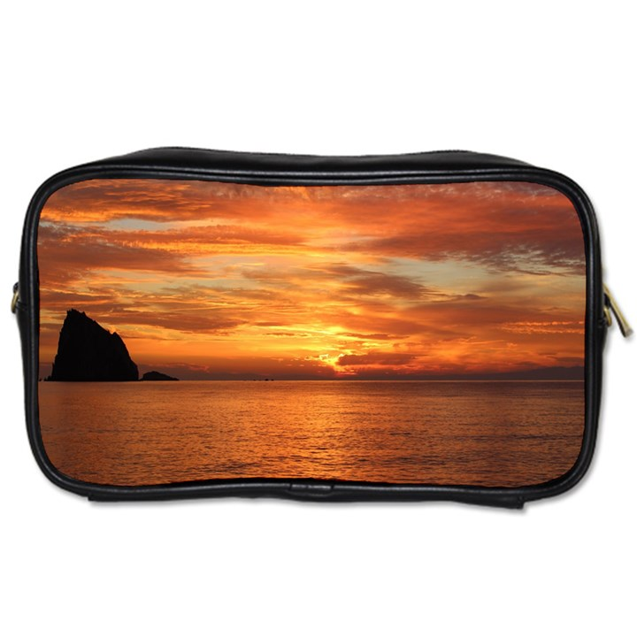Sunset Sea Afterglow Boot Toiletries Bags 2-Side