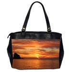 Sunset Sea Afterglow Boot Office Handbags (2 Sides)  Back