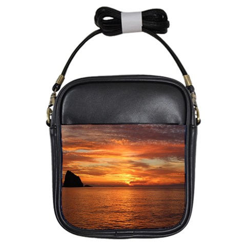 Sunset Sea Afterglow Boot Girls Sling Bags