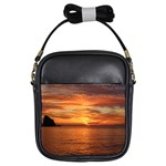 Sunset Sea Afterglow Boot Girls Sling Bags Front