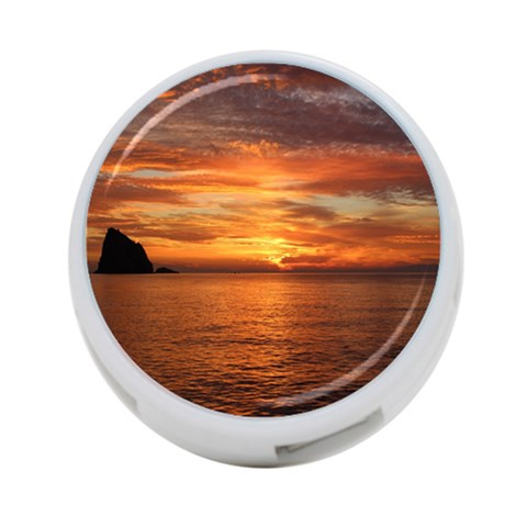 Sunset Sea Afterglow Boot 4-Port USB Hub (Two Sides)