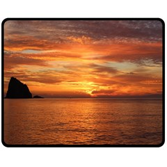 Sunset Sea Afterglow Boot Fleece Blanket (Medium)