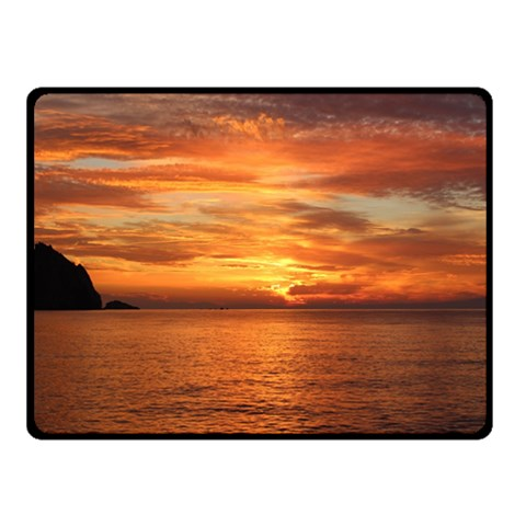 Sunset Sea Afterglow Boot Fleece Blanket (Small)