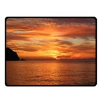 Sunset Sea Afterglow Boot Fleece Blanket (Small) 50 x40 Blanket Front